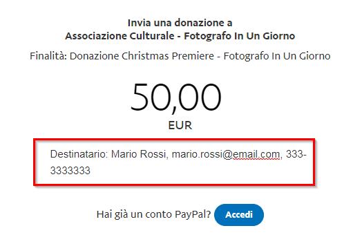 Donazione - No PayPal - Dati Destinatario (1)