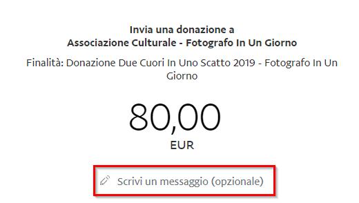 Donazione - Con PayPal - Dati Destinatario 1